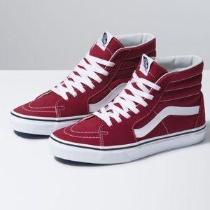 Vans Sk8-Hi rumba red skateboard shoes
